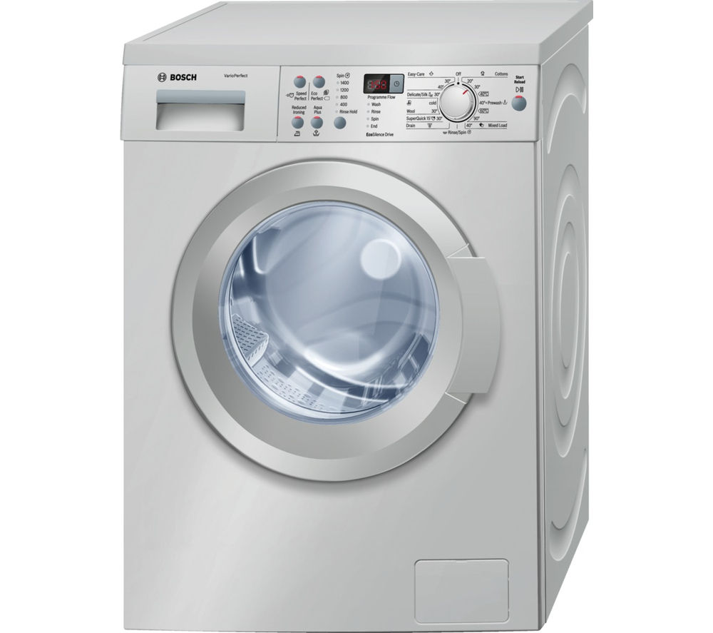 buy bosch waq2836sgb washing machine silver free delivery currys. Black Bedroom Furniture Sets. Home Design Ideas