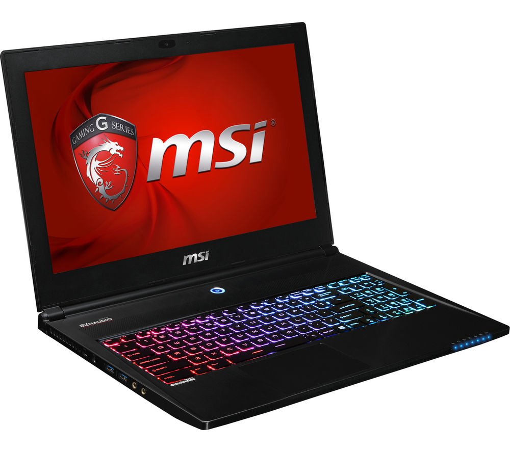msi ghost pro gs60 2qe 15 6 4k gaming laptop black office home student 2016 deals pc world. Black Bedroom Furniture Sets. Home Design Ideas