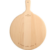 T&G WOODWARE Sophie Conran Medium Round Handled Board - Made with Love