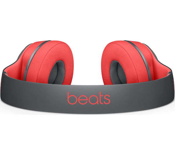 Image of BEATS BY DR DRE Solo 2 Wireless Bluetooth Headphones - Active Collection, Red & Black