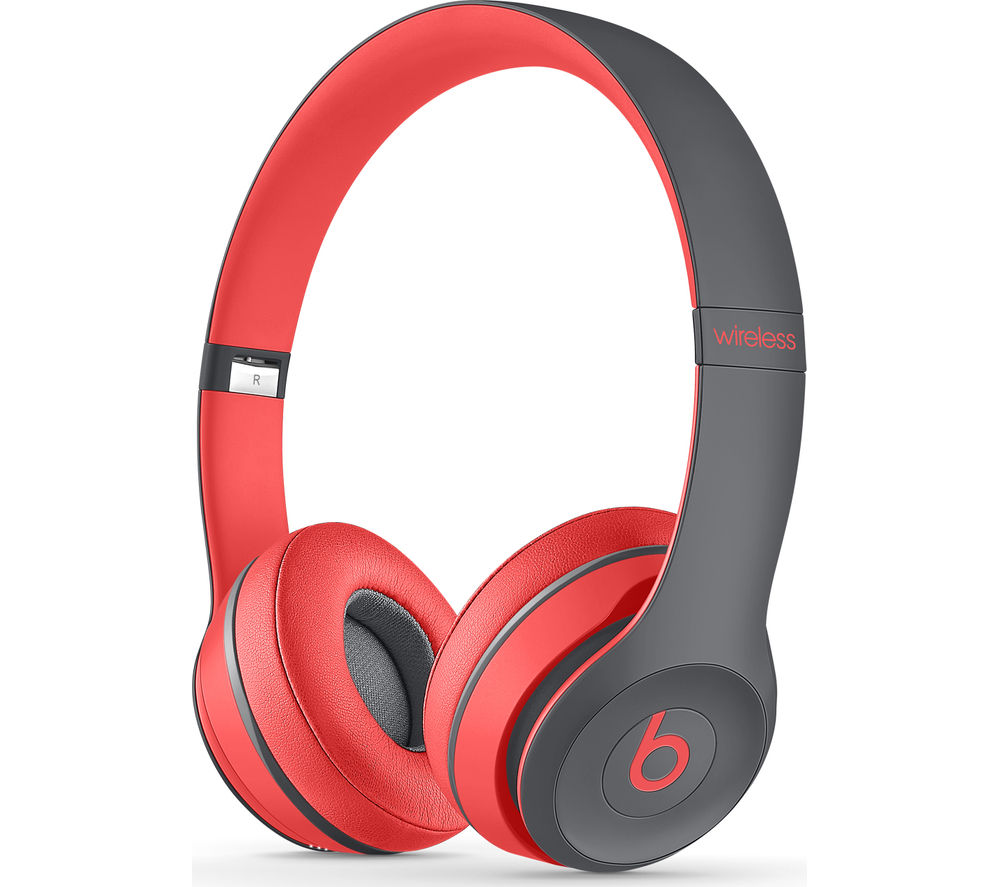 BEATS BY DR DRE Solo 2 Wireless Bluetooth Headphones - Active Collection, Red & Black