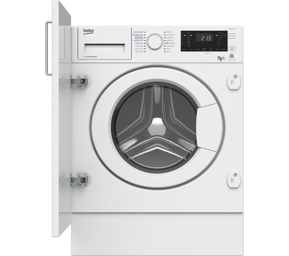 Buy Beko Wdix8543100 Integrated Washer Dryer White