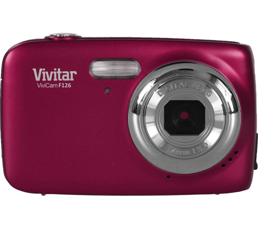 VIVITAR VF126 Compact Camera - Pink