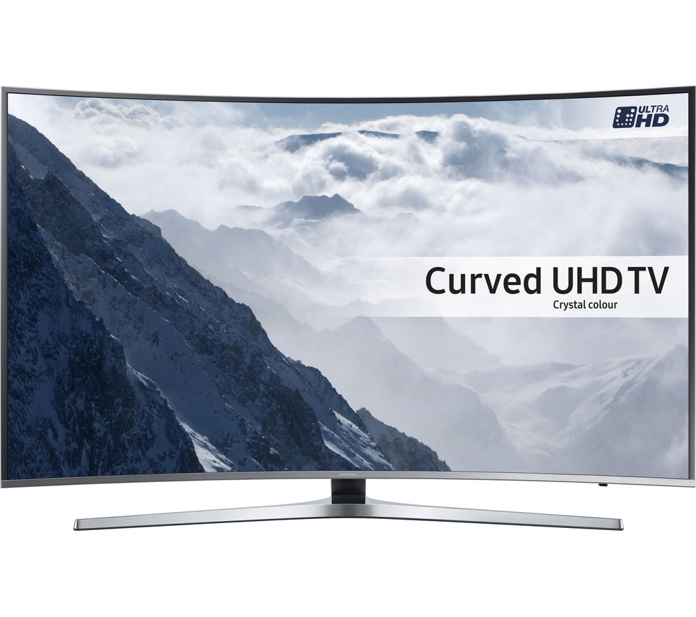 samsung ue65ku6680 smart 4k ultra hd hdr 65 curved led tv. Black Bedroom Furniture Sets. Home Design Ideas