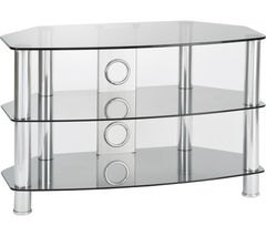 PHILEX Vantage 1200 TV Stand - Chrome & Grey
