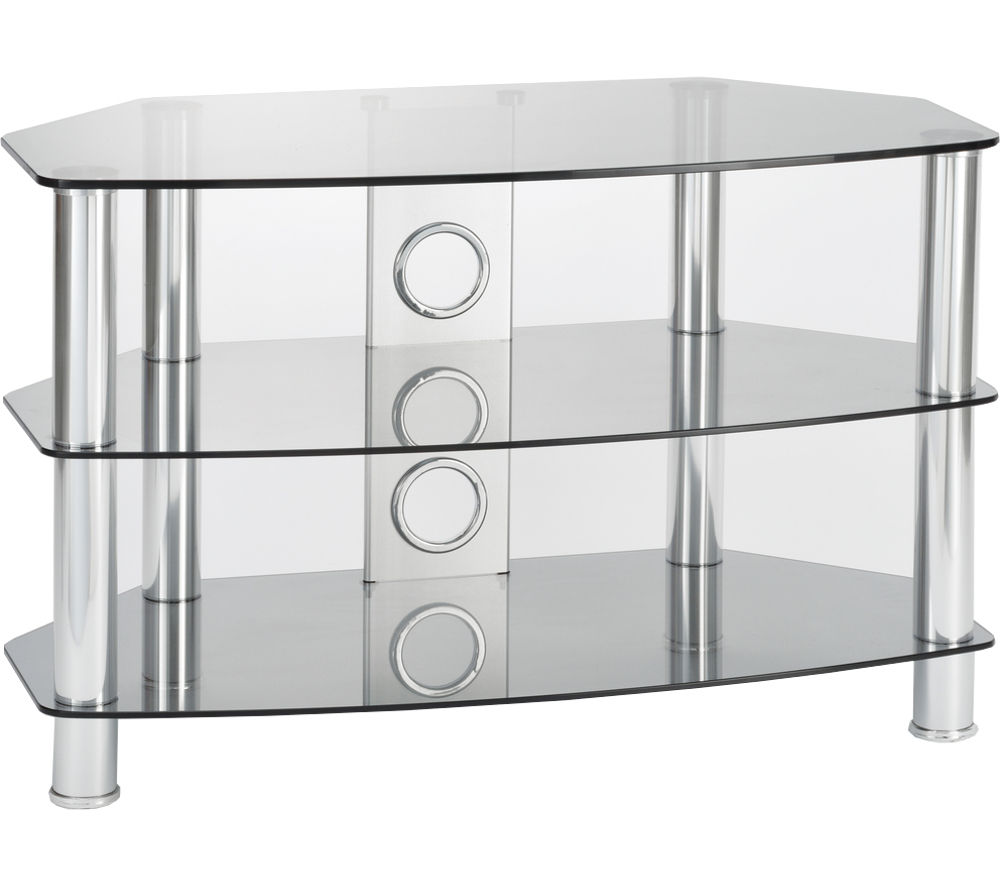 TTAP Vantage 1200 TV Stand - Chrome & Grey