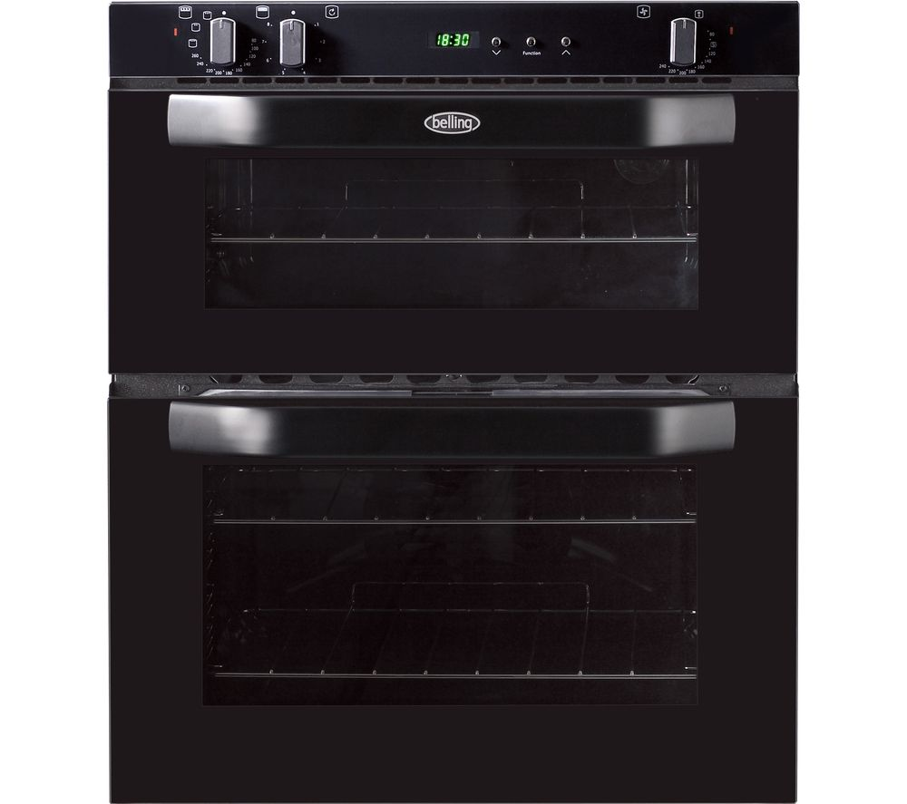 BELLING  BI70FP Electric Builtunder Double Oven  Black Black