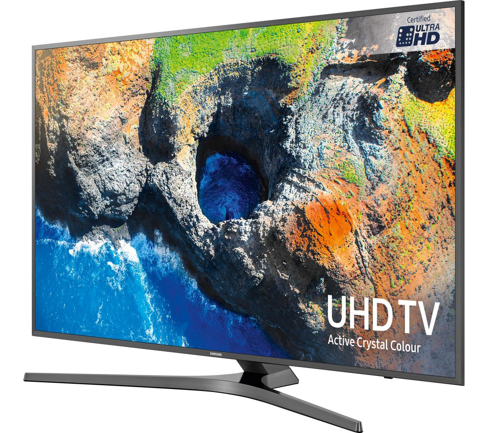 "SAMSUNG UE55MU6470U 55"" Smart 4K Ultra HD HDR LED TV + S1HDM315 HDMI Cable with Ethernet - 1 m"