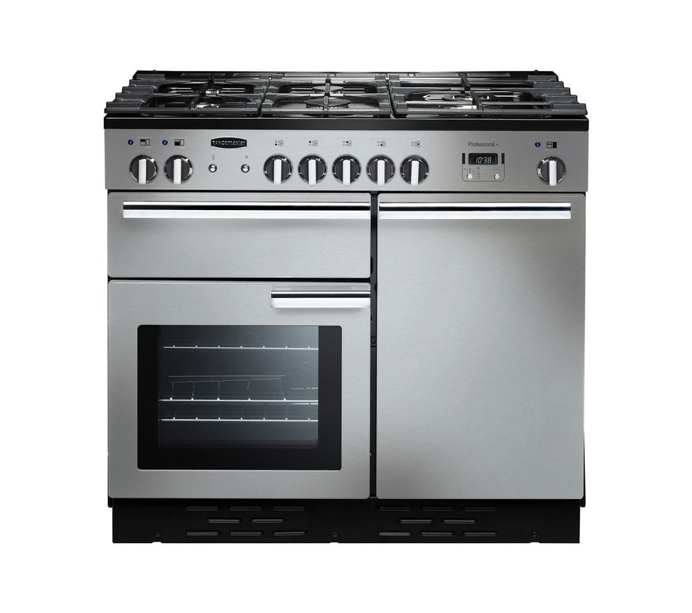 RANGEMASTER  Professional 100 Dual Fuel Range Cooker  Stainless Steel Stainless Steel