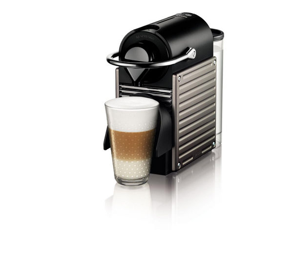 buy krups xn300540 nespresso pixie coffee machine titanium free delivery currys. Black Bedroom Furniture Sets. Home Design Ideas