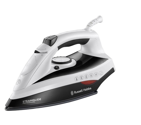 buy russell hobbs steamglide pro 19222 steam iron black. Black Bedroom Furniture Sets. Home Design Ideas