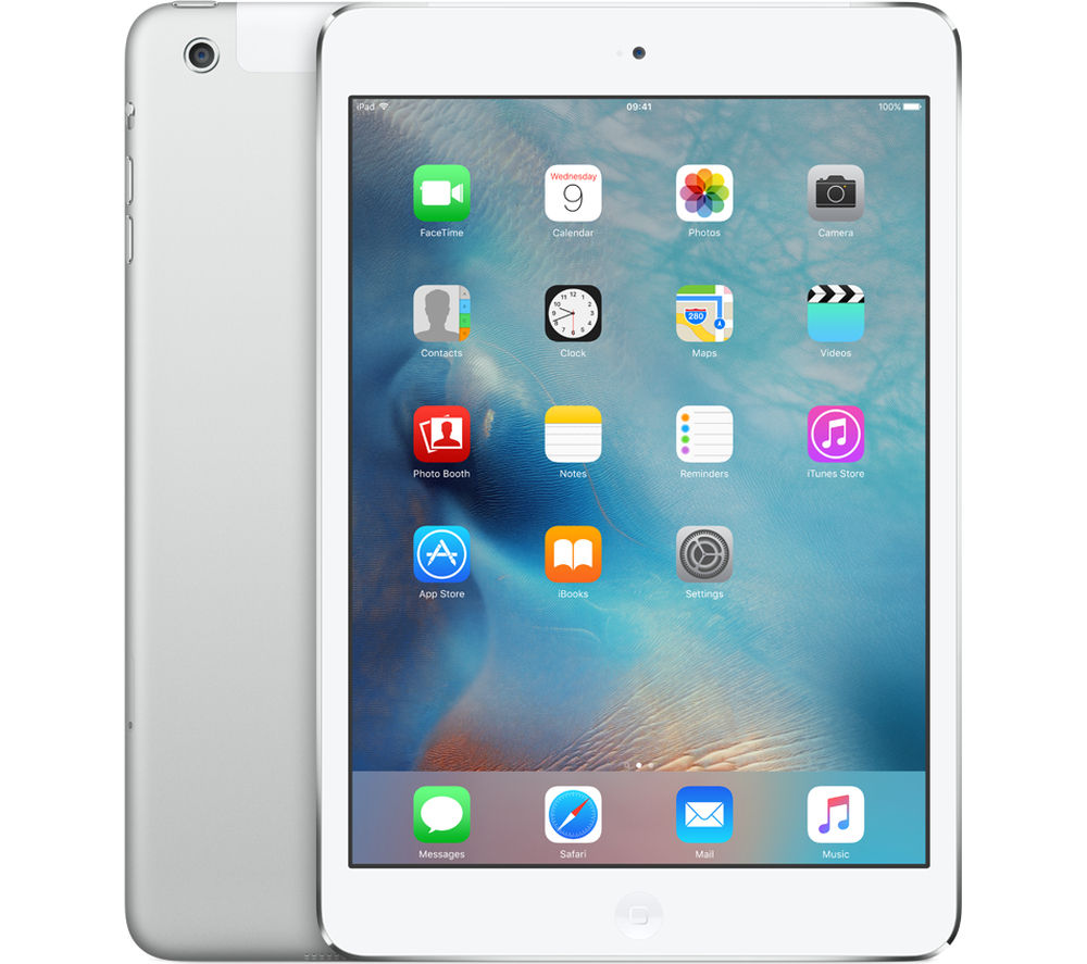 Image of Apple iPad mini 2 Cellular - 16 GB, Silver, Grey
