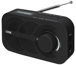 LOGIK LRBDAB14 Portable DAB Radio - Black
