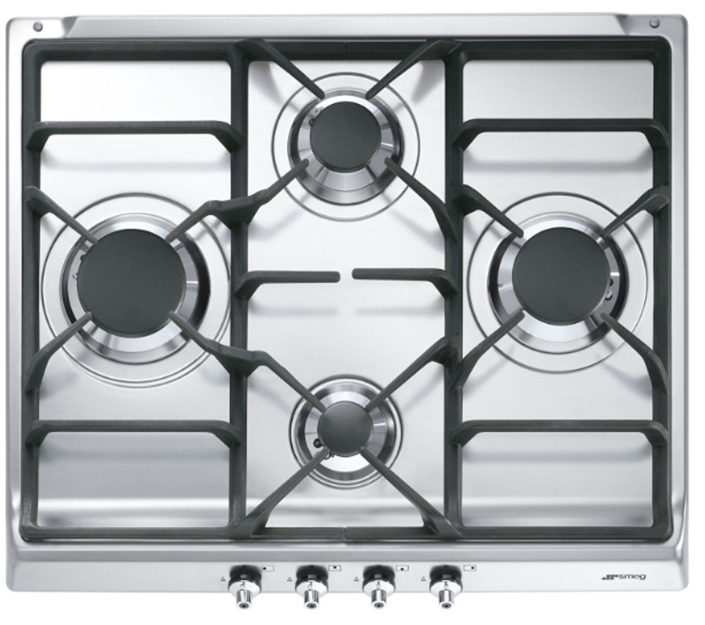 SMEG  SE60SGH3 Gas Hob  Stainless Steel Stainless Steel