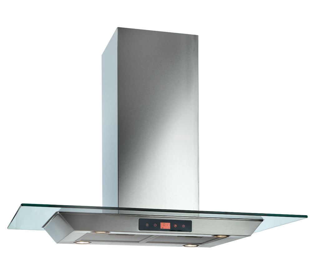 BAUMATIC BTI9170GL Island Cooker Hood - Stainless Steel & Glass