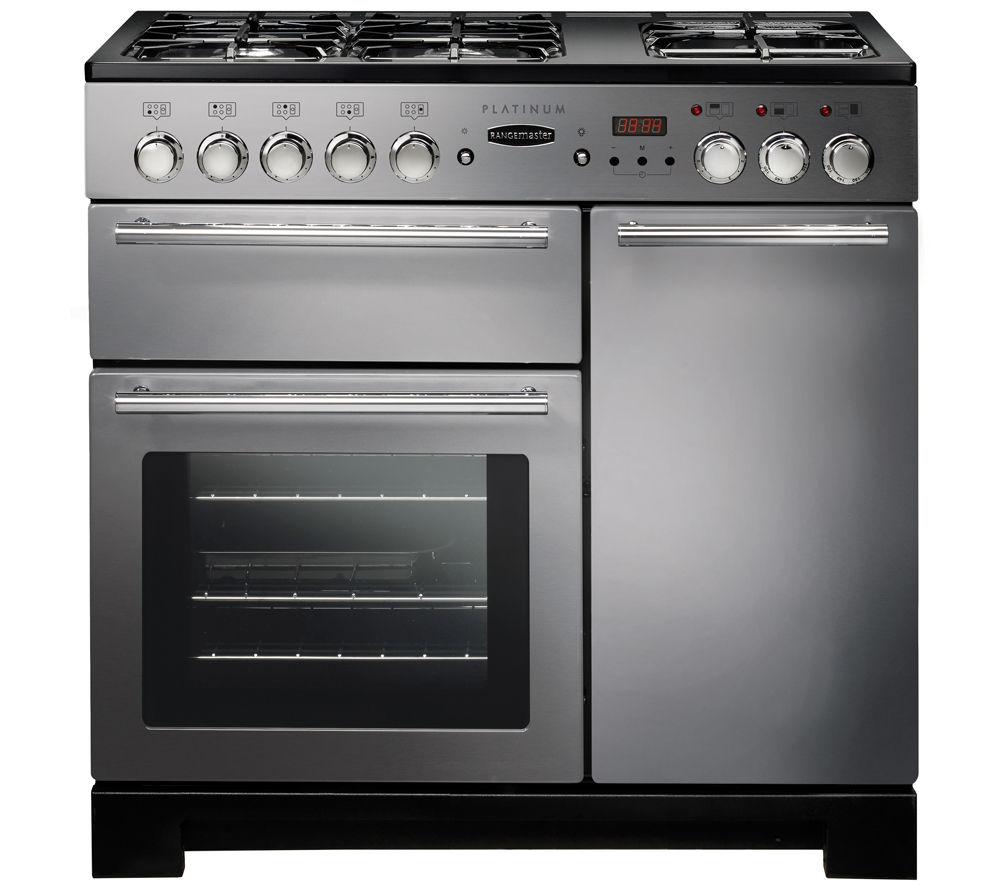 rangemaster platinum 90 dual fuel range cooker stainless. Black Bedroom Furniture Sets. Home Design Ideas