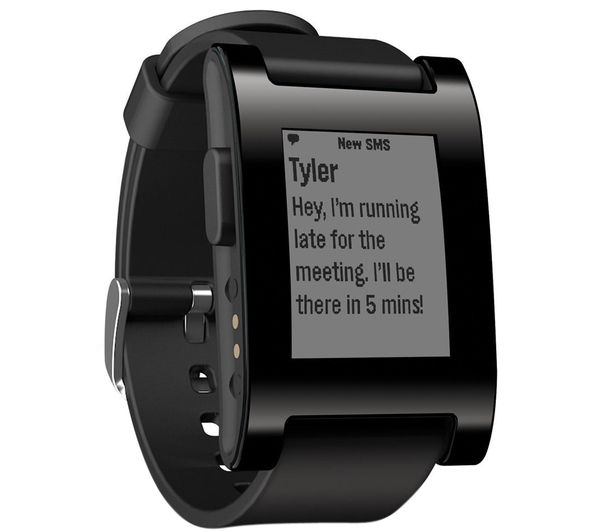 Buy pebble smartwatch black free delivery currys for Pebble watches