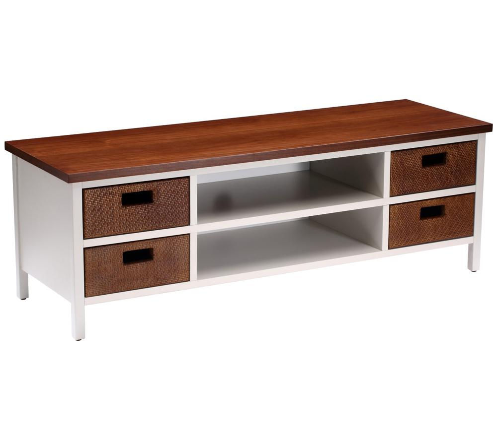 TECHLINK  Wicker WK120W TV Stand Walnut & warm grey