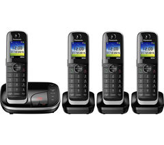 PANASONIC KX-TGJ324EB Cordless Phone with Answering Machine - Quad Handsets