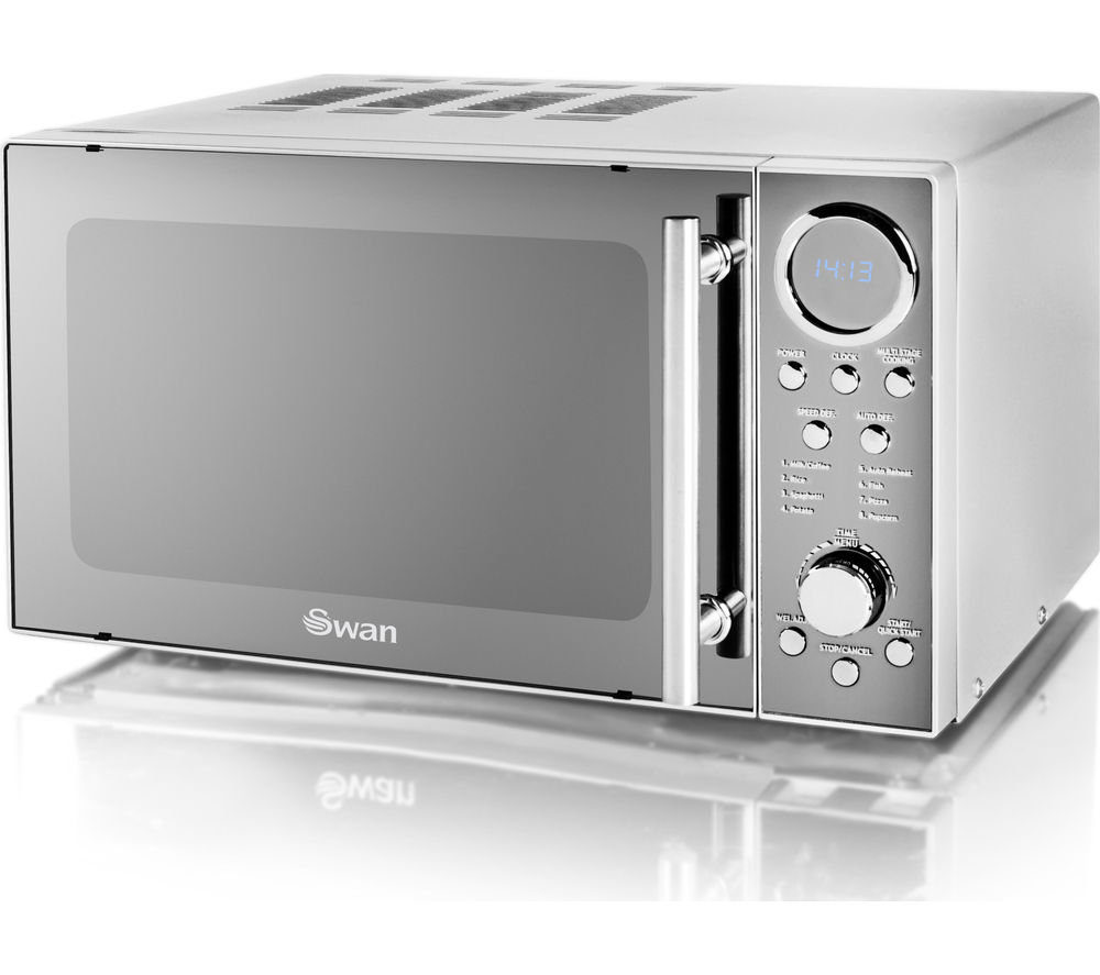 Image of SWAN SM3080N Solo Microwave - Silver, Silver