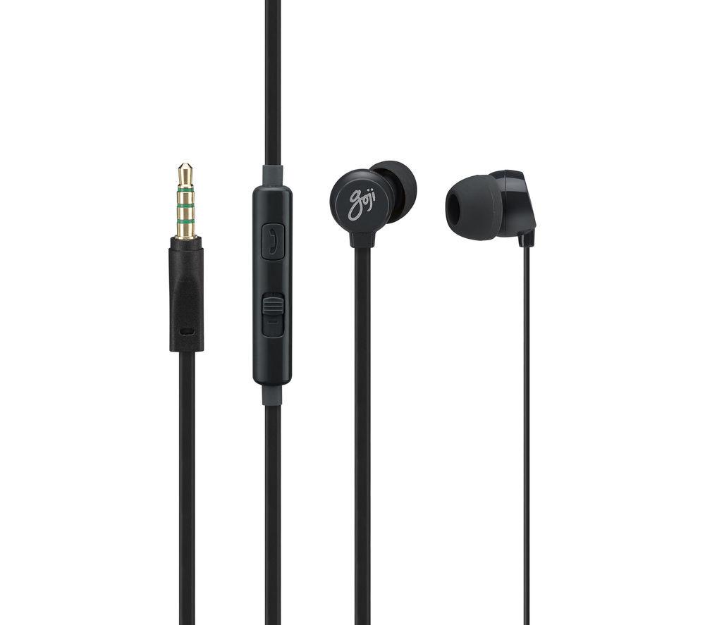 GOJI Berries 2.0 Headphones - Blackberry + iPhone 7 Lightning to 3.5 mm Headphone Jack Adapter