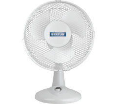 "STATUS 9"" Desk Fan - White"