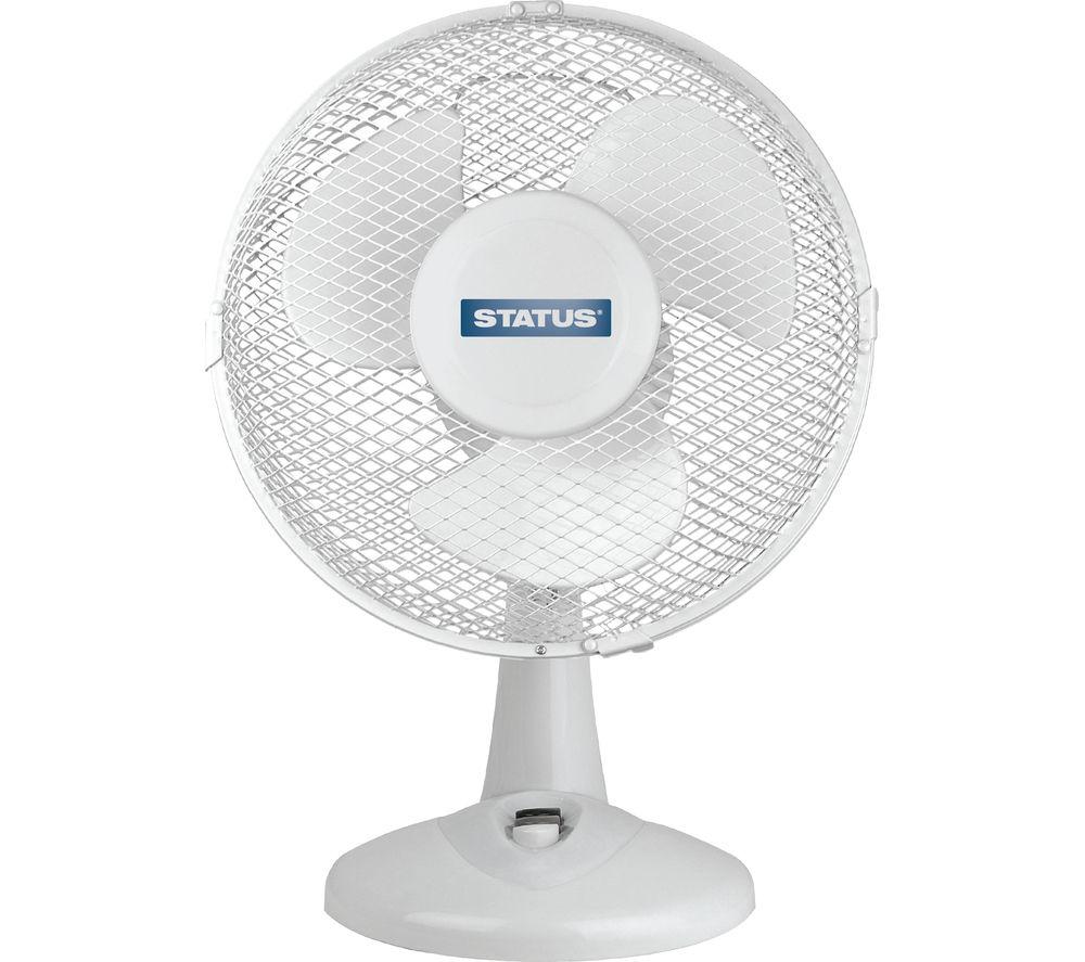 """STATUS 9"""" Desk Fan - White"""
