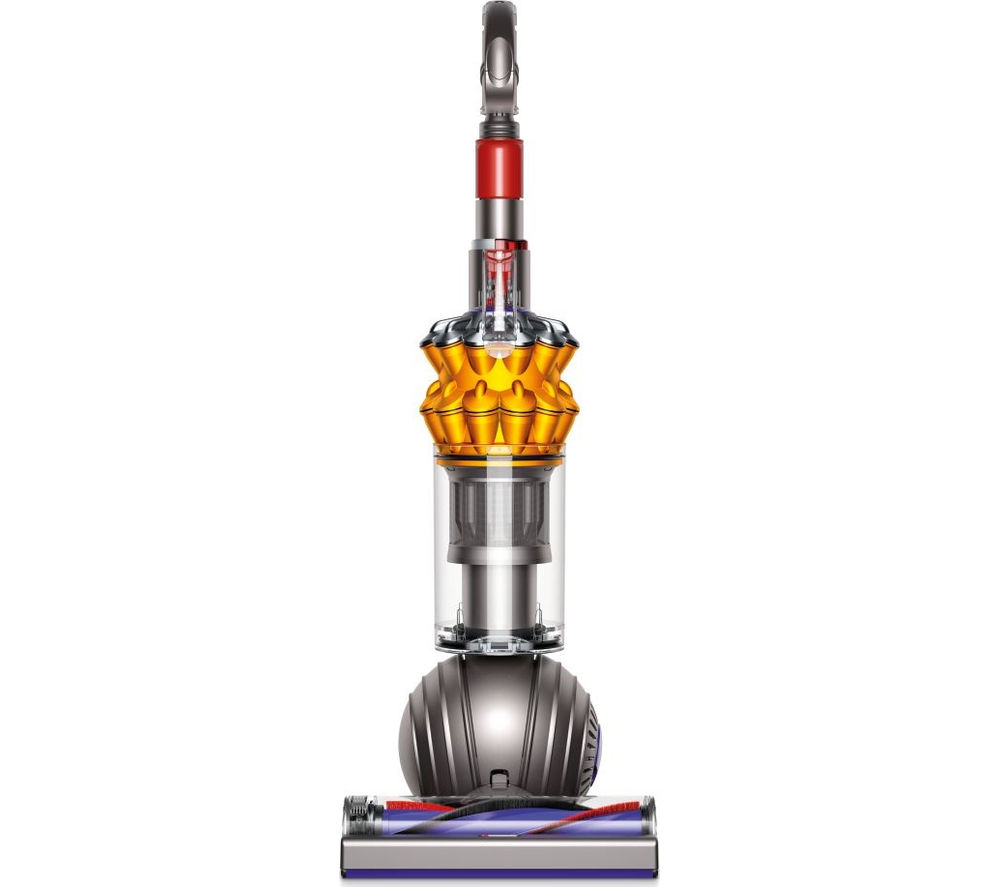 DYSON  Small Ball Multi Floor Upright Bagless Vacuum Cleaner  Iron & Yellow Yellow