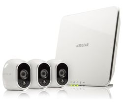 NETGEAR Arlo 3 VMS3330 Three-Camera Home Security Camera Kit