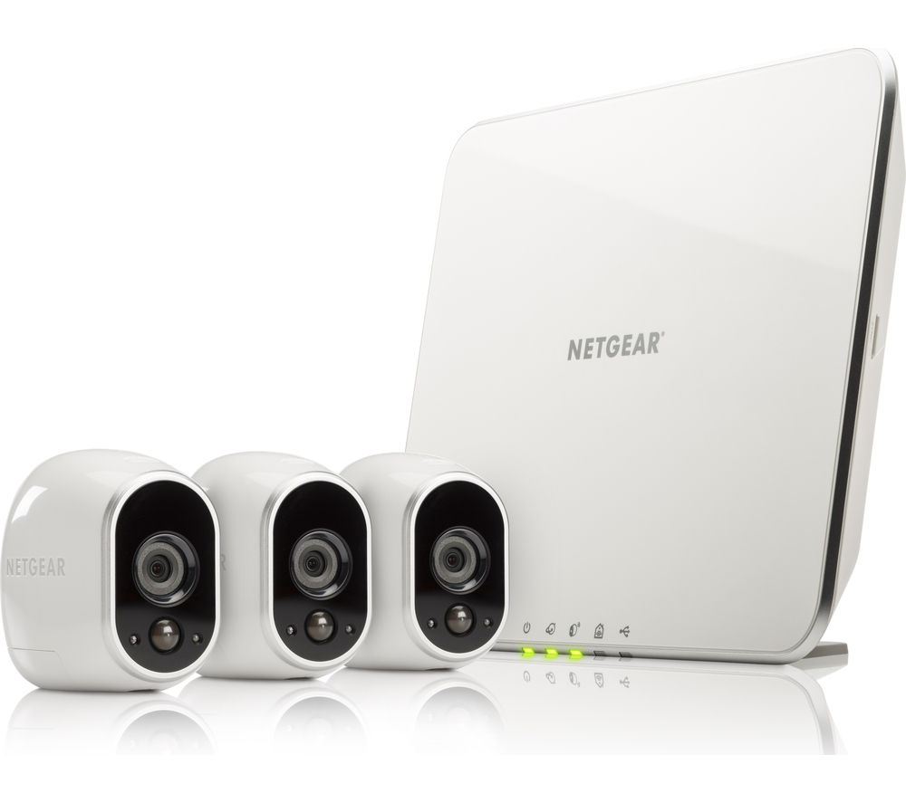 Buy Netgear Arlo 3 Vms3330 Three Camera Home Security