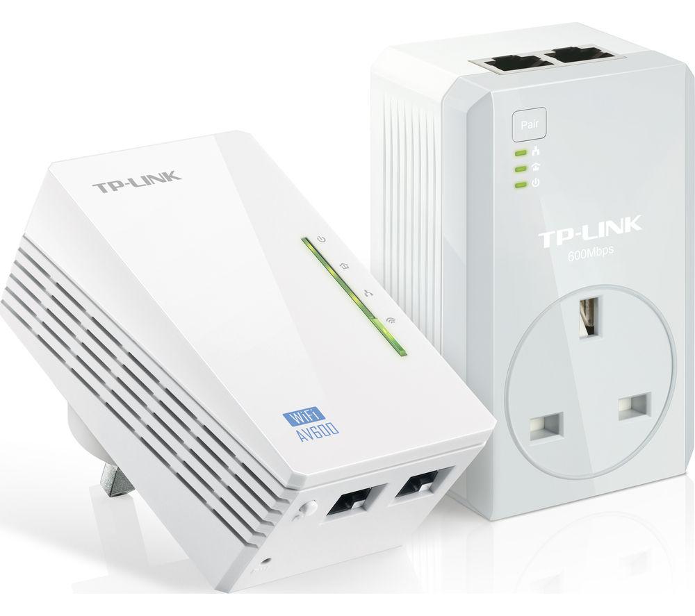 TP-LINK TL-WPA4226 Wireless Powerline Adapter Kit - AV600, Twin Pack