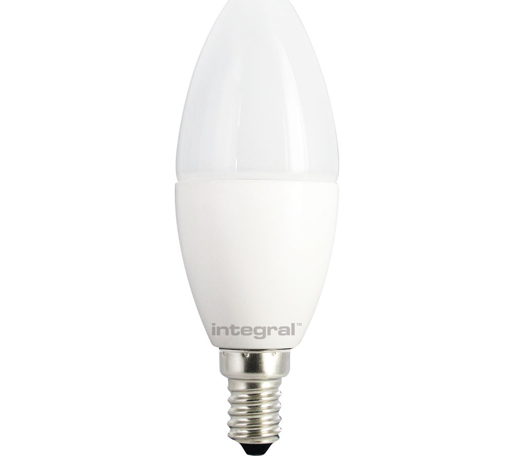 INTEGRAL  470LM E14 Dimmable LED Candle Light Bulb - Warm White, White