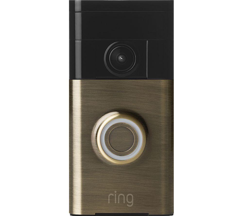 ring video doorbell antique brass deals pc world. Black Bedroom Furniture Sets. Home Design Ideas