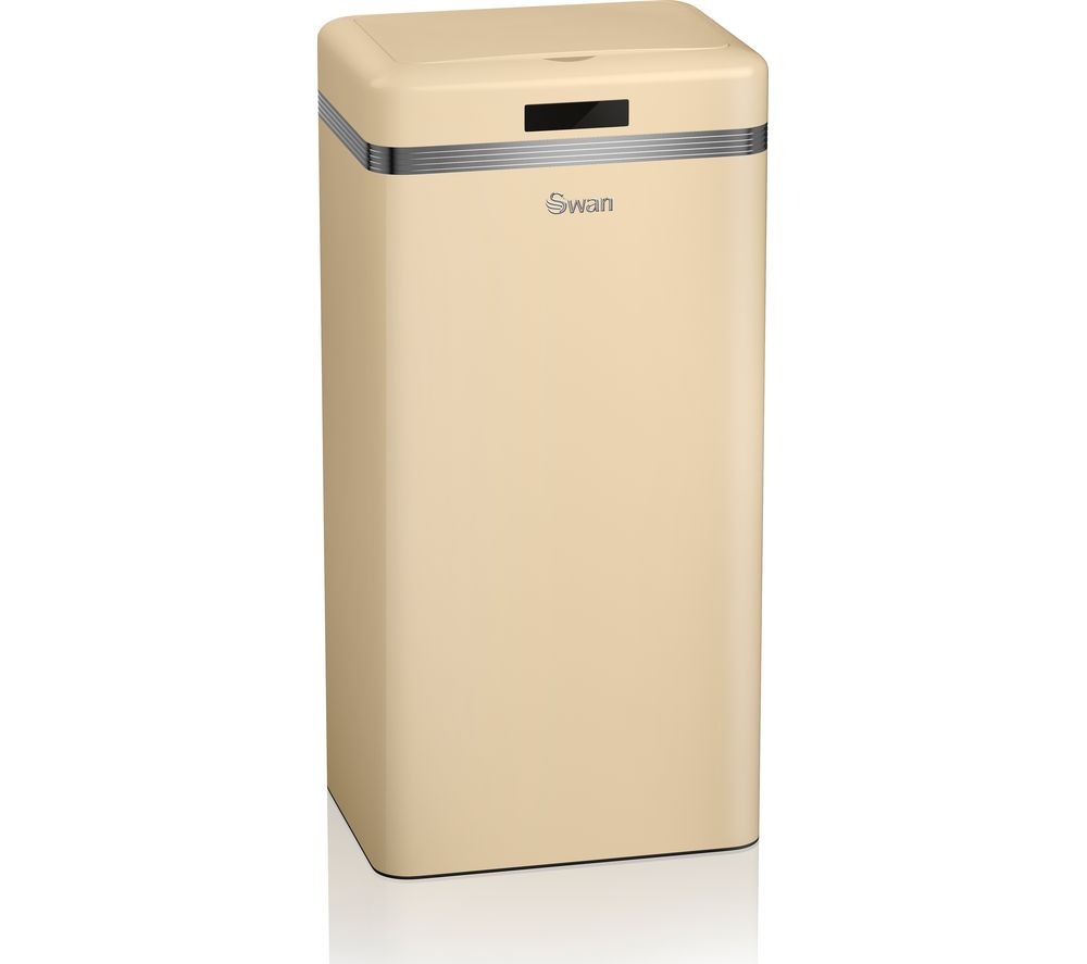 Buy SWAN Retro 45-litre Rectangular Bin - Cream