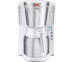 MELITTA Look IV Therm Timer Filter Coffee Machine - White & Stainless Steel
