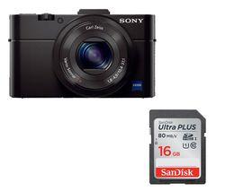 SONY Cyber-shot DSC-RX100 II High Performance Compact Camera - Black