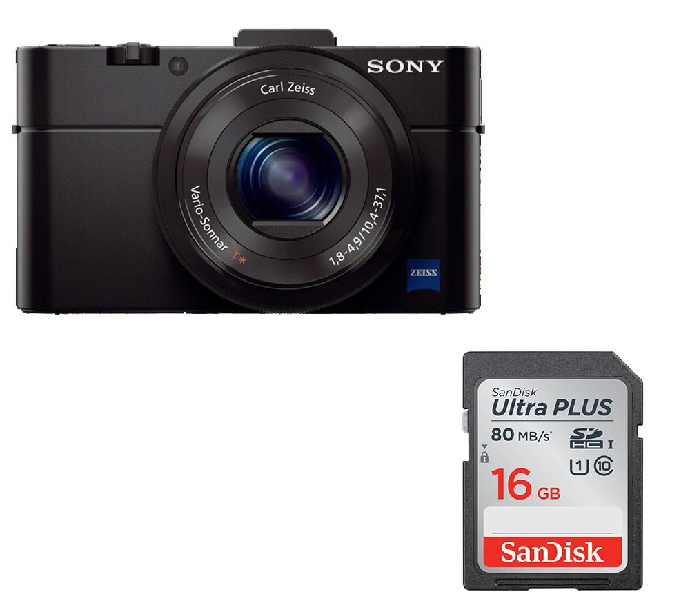 SONY Cyber-shot DSC-RX100 II High Performance Compact Camera & Memory Card Bundle