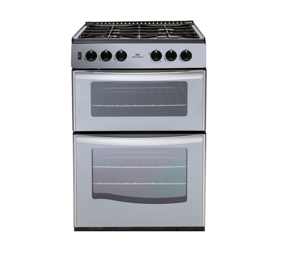 NEW WORLD G55TT Gas Cooker - Silver
