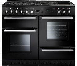 RANGEMASTER Toledo 110 Dual Fuel Range Cooker - Black & Chrome