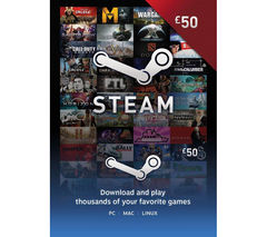 Steam Wallet Card - £50