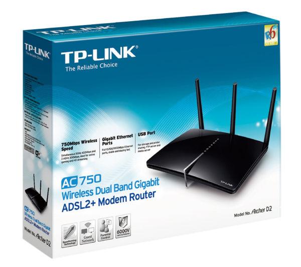 Image of TP-LINK Archer D2 Wireless Modem Router