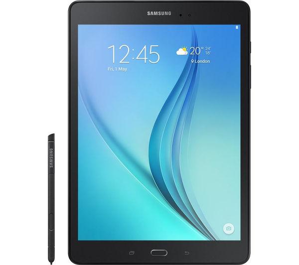"Image of Samsung Galaxy Tab A 9.7"" Tablet & S Pen - 16 GB, Black, Black"