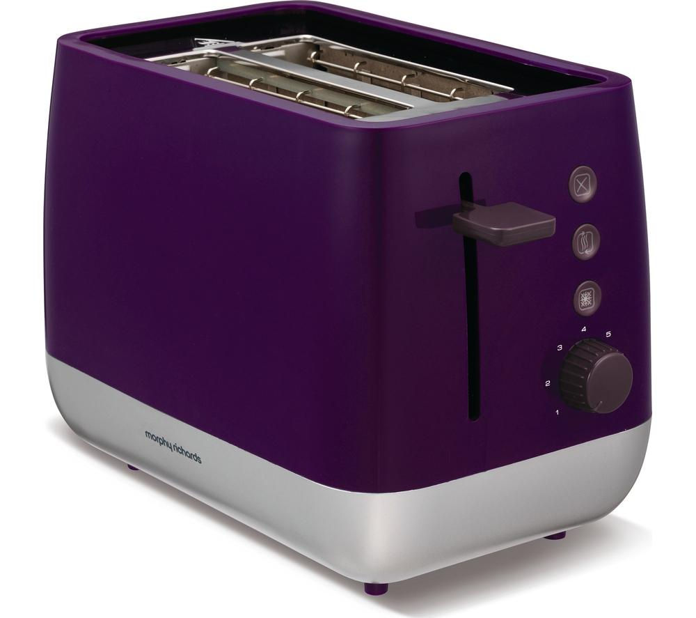 buy morphy richards chroma 221108 2 slice toaster plum. Black Bedroom Furniture Sets. Home Design Ideas