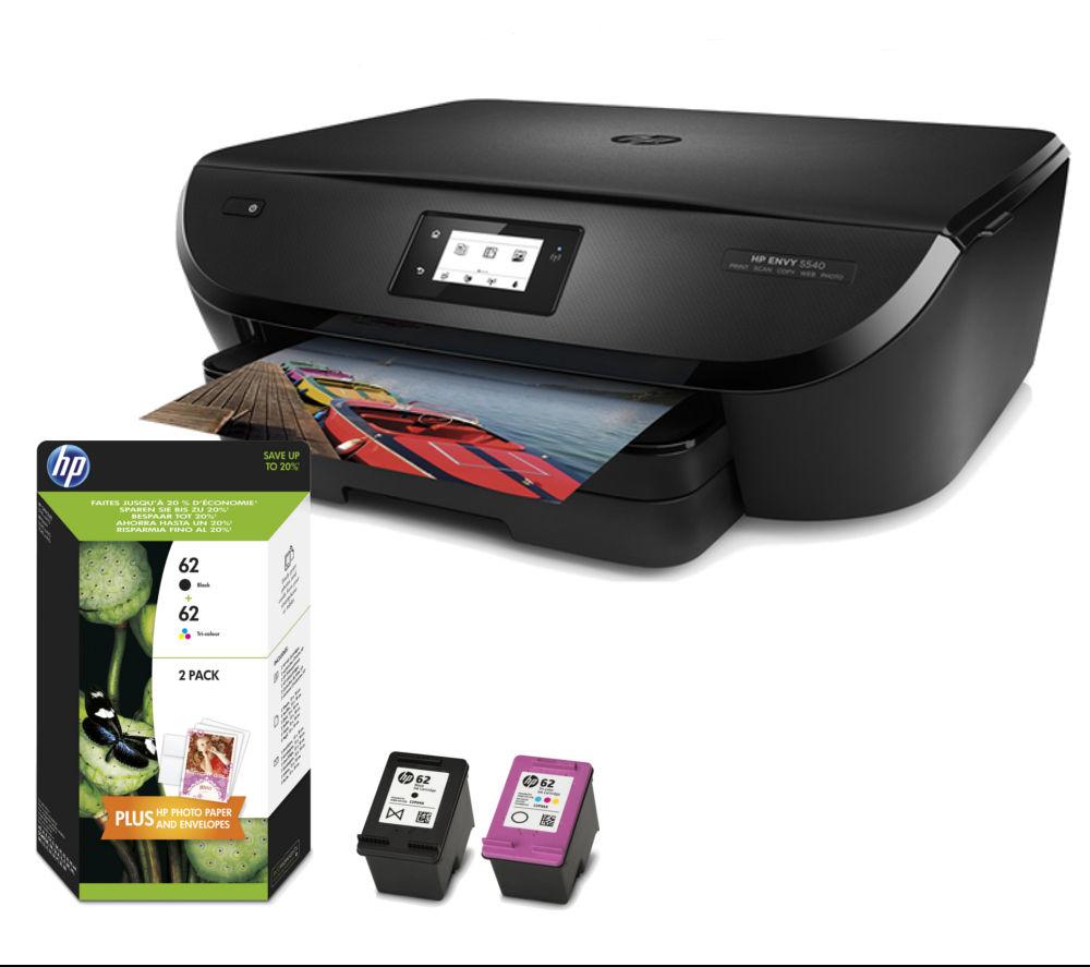 HP ENVY 5540 All-In-One Wireless Inkjet Printer & Ink Cartridge Bundle