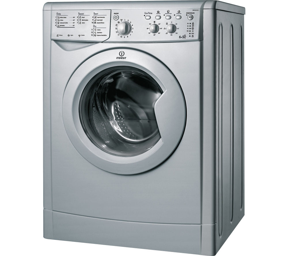 buy indesit ecotime iwdc 6125s washer dryer silver. Black Bedroom Furniture Sets. Home Design Ideas