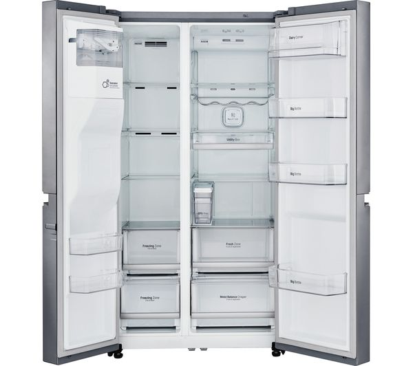 American Fridge Freezer With Drawers Part - 34: LG GSL961PZBV American-Style Fridge Freezer - Stainless Steel