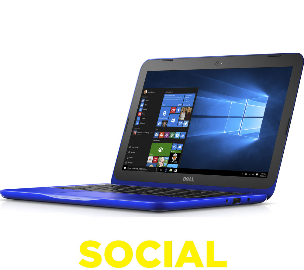 "Image of Dell Inspiron 11 3000 11.6"" Laptop - Blue"