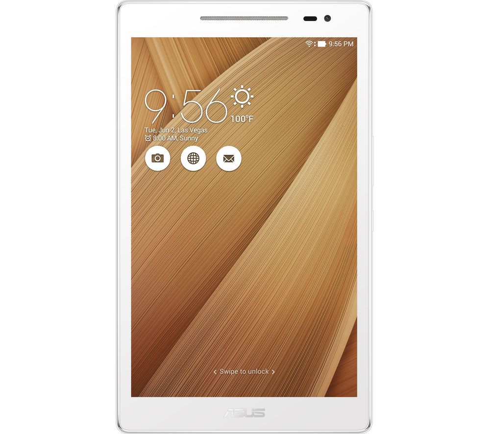 "ASUS Z380M 8"" Tablet - 16 GB, Gold + LiveSafe Unlimited 2017 - 1 year + Cloud Storage for Tablets & Mobiles - 200 GB, 1 year"