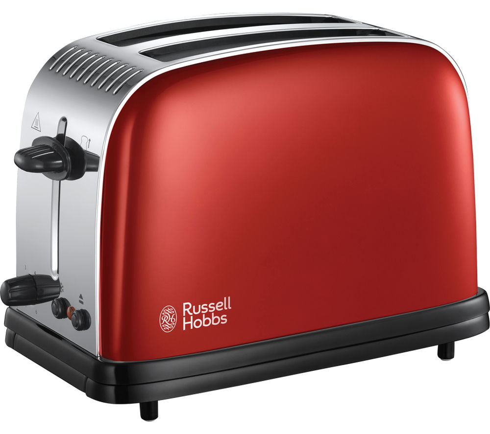 buy russell hobbs colours plus 23330 2 slice toaster red free delivery currys. Black Bedroom Furniture Sets. Home Design Ideas