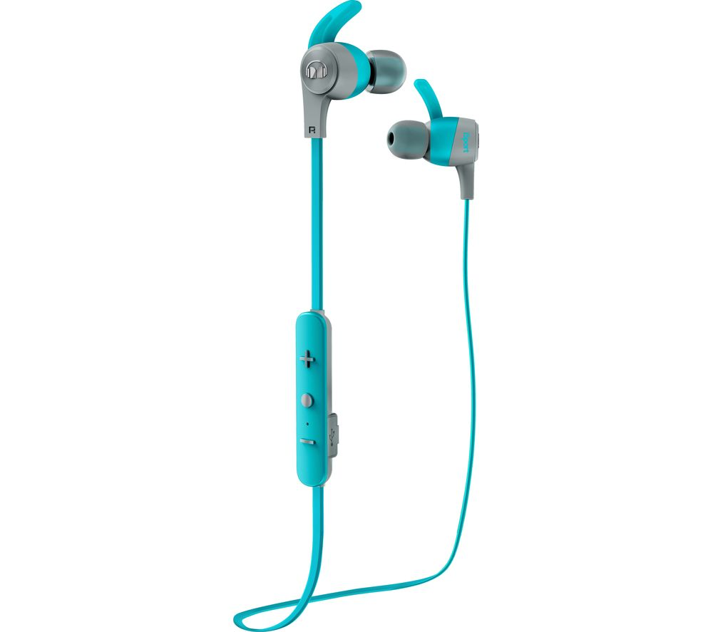 MONSTER iSport Achieve Wireless Bluetooth Headphones - Blue